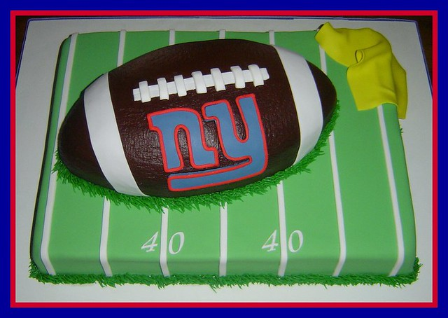 Prime Ny Giants Birthday Cake This Cake Was For A Friend Whos Flickr Funny Birthday Cards Online Inifodamsfinfo