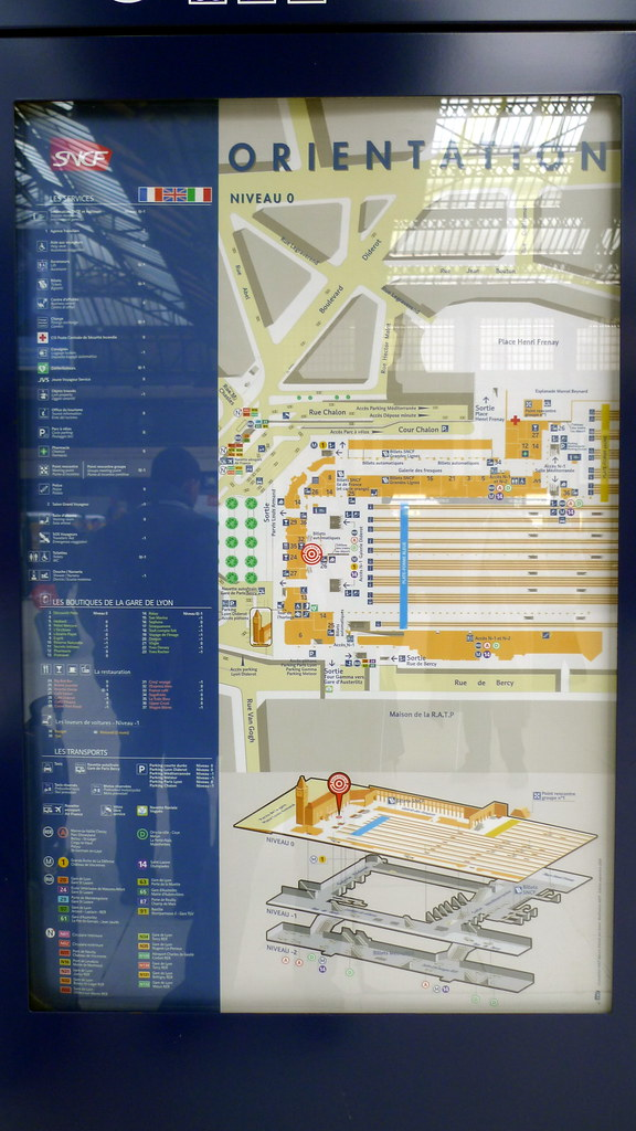 plan gare de LYON (PARIS,FR75)