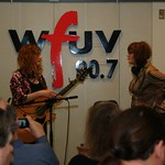 Thu, 18/03/2010 - 11:25am - Patty Larkin & Claudia Marshall on the air on and for Marquee Members in Studio A on 3/18/10 .  photos copyright 2010 -gaylemiller.com