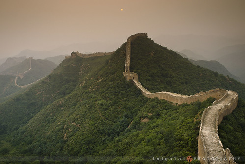 THE GREAT WALL/gloomy sunset