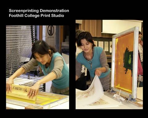Book Arts Jam 2007 - Screenprinting Demo - Print Studio - slide 13