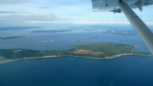 Aerial view of Sidney Island and San Juan Islands | by Ruth and Dave