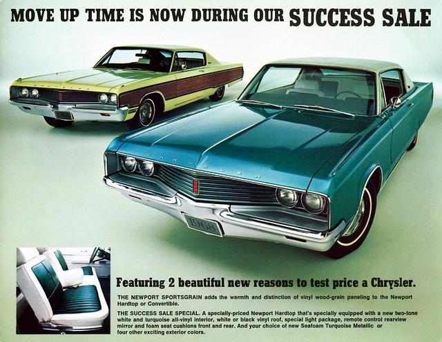 1968 Chrysler Newport Sportsgrain Wood-Grain Paneling