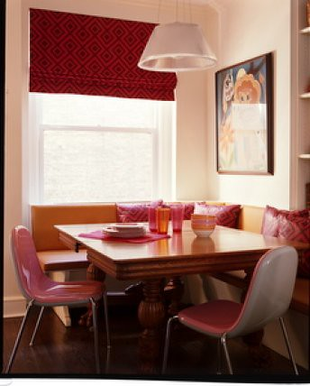 Stupendous Pink In The Kitchen Banquette Seating Modern Pink Chair Dailytribune Chair Design For Home Dailytribuneorg