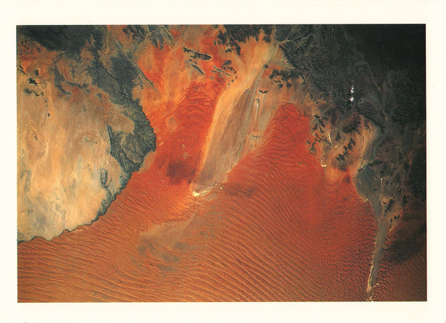 Namibian Desert Space Aerial-view Postcard