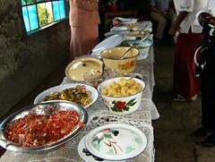 Festmaden ved indvielsen