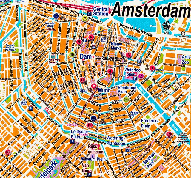 1 Amsterdam Map Great Map Of Centrum From Off The Onlin Flickr