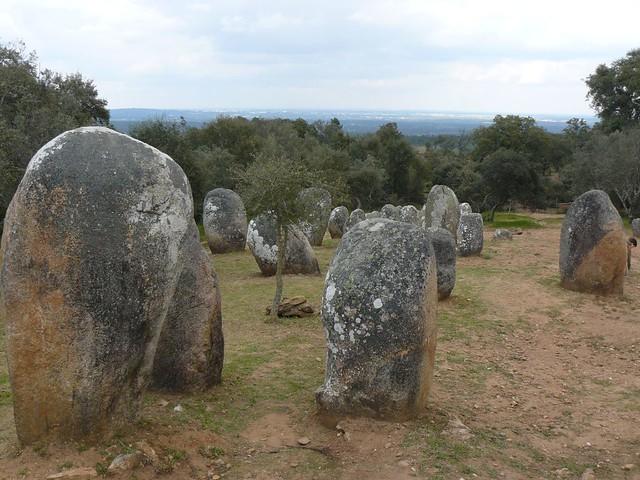 Conjunto megalítico en Alentejo (Portugal)