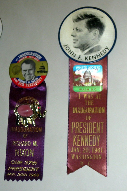 Washington DC - National Museum of American History: 1961 & 1969 Presidential Inauguration Buttons