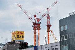 Tower Cranes in Tokyo Sky Tree Construction Site