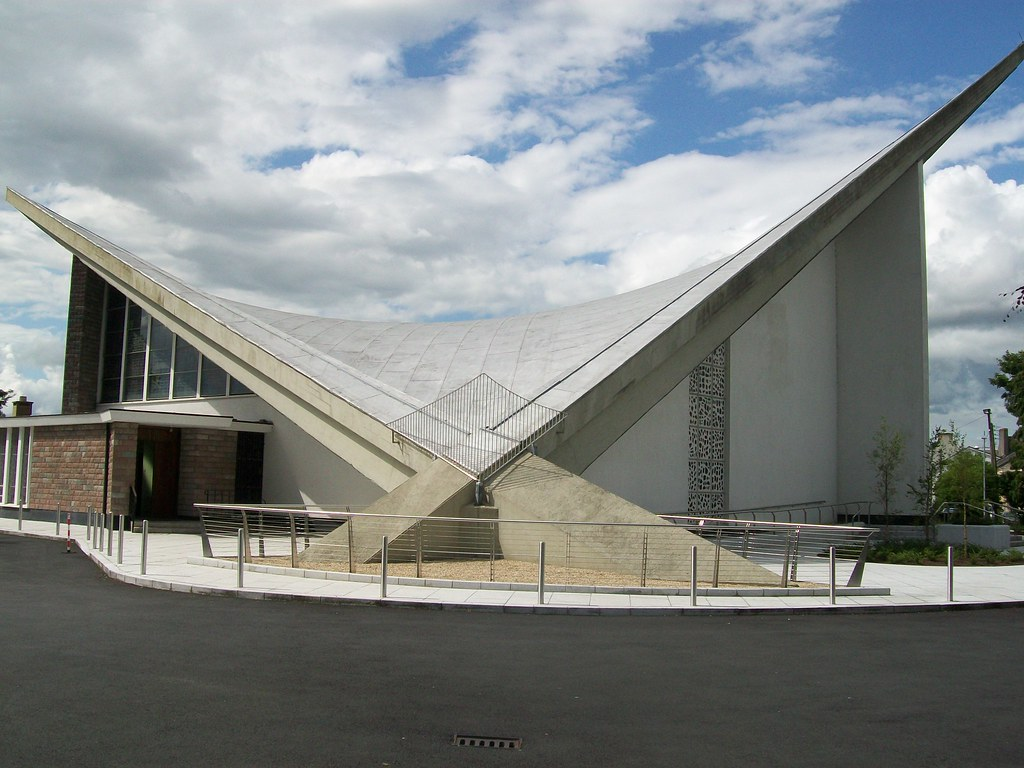 St Dominic S Athy 02 Hyperbolic Paraboloid Roof