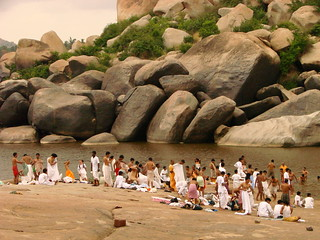 Pilgrims Bathe in the Tungabhadra River - Near Hampi - India | by Adam Jones, Ph.D. - Global Photo Archive