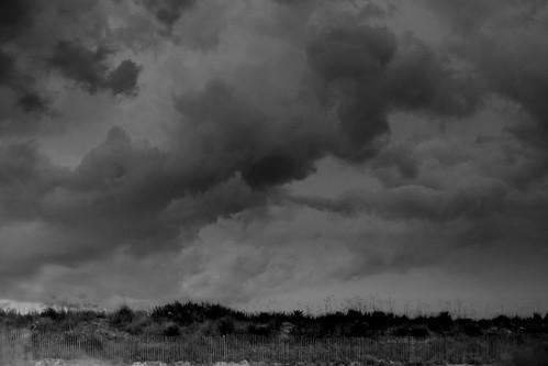 sea white storm black clouds fence landscape nc dunes tripod northcarolina oats gitzo oakisland caswellbeach photomatix canonef24105mmf4lisusm moosesfilter arcatech gt2531
