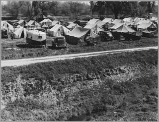 Stanislaus County, San Joaquin, California. Labor Contractor's Camp for Field Labor