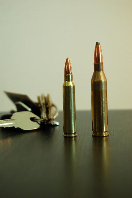 223 vs 243 Winchester - Size Comparison | A photo I took to