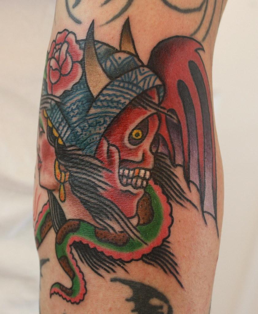 fc82a9aa8 ... custom devil and gypsy tattoo | by A Gypsy Rose Tattoo New Orleans