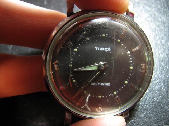 vintage crappy Timex radium Self-wind