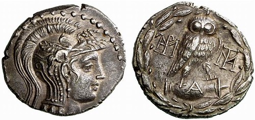 G646 An Exceptional Greek Silver Tetradrachm of Athens (Attica), of Magnificent Style for the Usually Banal Last Issue of Athenian Tetradrachms | by Ancient Art & Numismatics