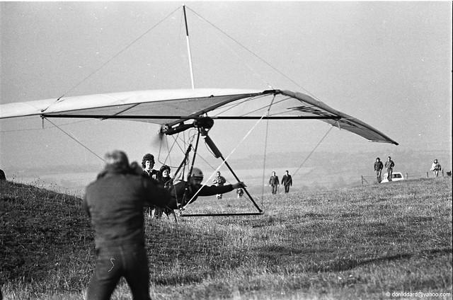FLPHG mcCulloch powered Chargus Midas E Hang Glider pilot Simon Wooton BHGA mere wiltshire 1977.08.27