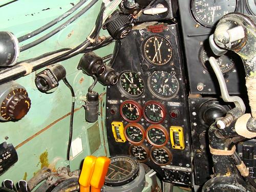 DH Mosquito cockpit shot LH instrument pane