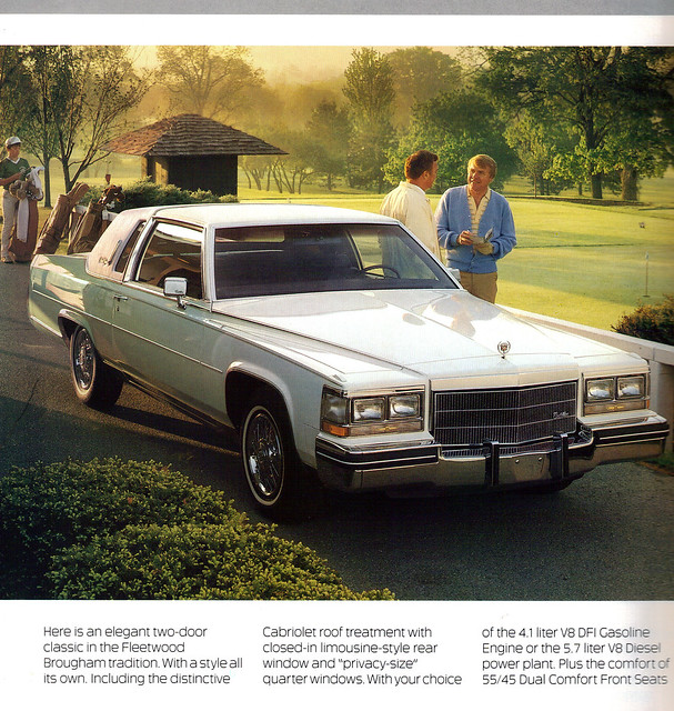 1985 Cadillac Fleetwood Brougham 2 door coupe