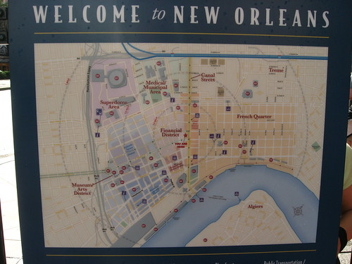 Map Of Downtown New Orleans, Louisiana