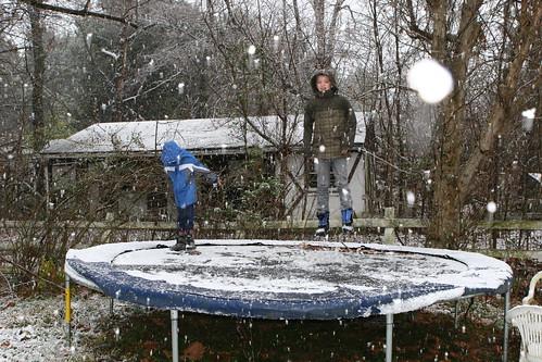 Snow Trampoline!