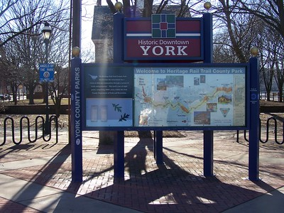 York County, Heritage Rail Trail County Park, trailhead sign