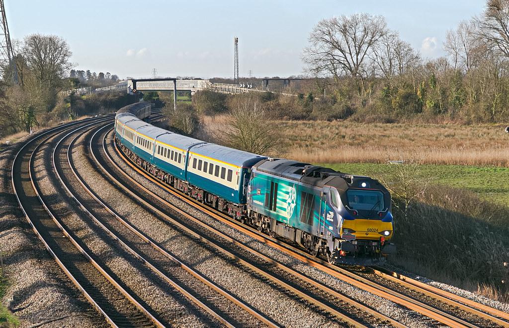 68024 1Z68 0707 Carmarthen - Edinburgh Waverley Ruggex run