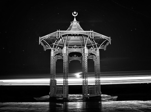 """Southsea Band Stand.  Long exposure with Ferry Going by.  <a href=""""#//www.hexagoneye.com%e2%80%9d"""" rel=""""noreferrer nofollow""""> A hexagoneye.com Pic</a>"""