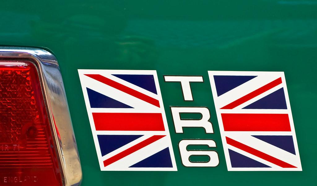 Triumph Tr6 Rear Quarter Panel Union Jack Decal Jwsherman Flickr