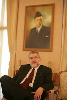 David Addington at Presidential Palace in Islamabad, Pakistan for Meeting and Lunch With President Pervez Musharraf