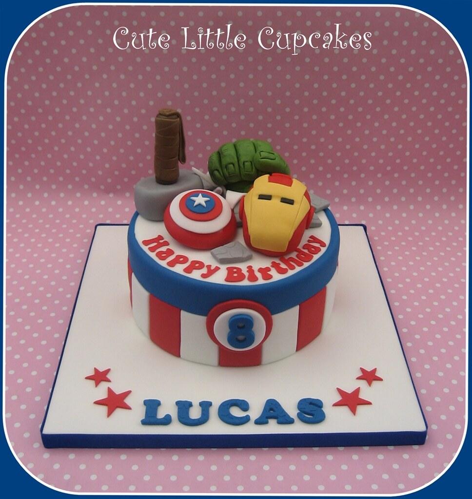 Admirable Avengers Birthday Cake Heidi Stone Flickr Personalised Birthday Cards Xaembasilily Jamesorg