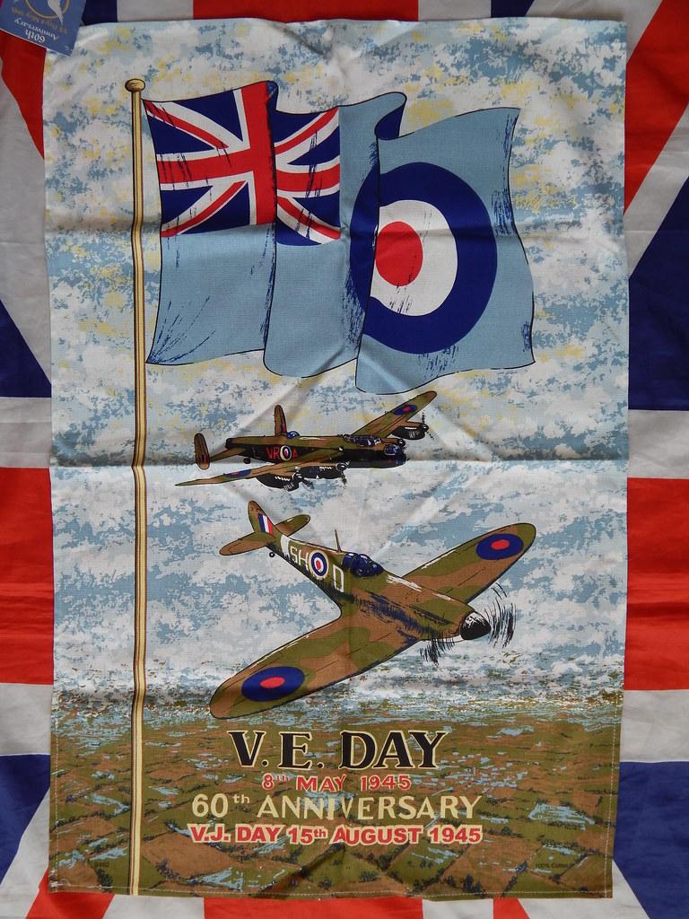 V E DAY 60th anniversary tea towel RAF Royal Air Force | Flickr