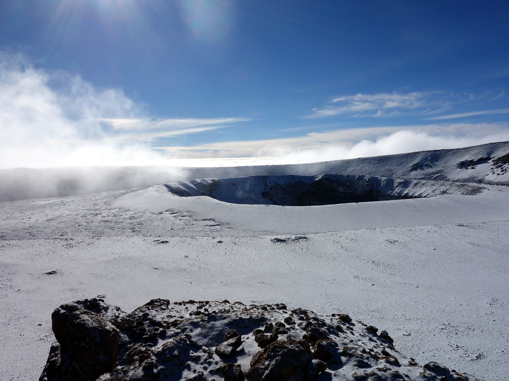 Clouds over the inner crater