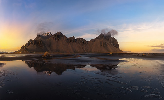 Sunset in Stokksnes