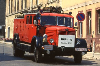 1939 Büssing-NAG  Typ 500G Fire Tender Schmölln.  June 1993