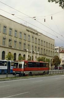 Варна  Автобус Икарус България, Ikarus buses at Varna Post Office, Oct 1993