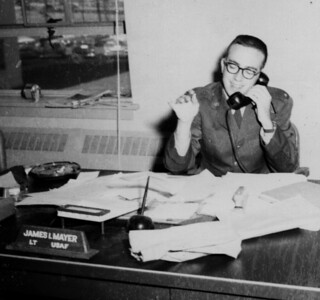 1961 Lt. Mayer on the phone