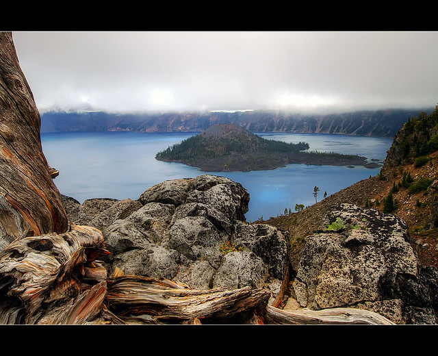 Wizard Island - Crater Lake Oregon - HDR
