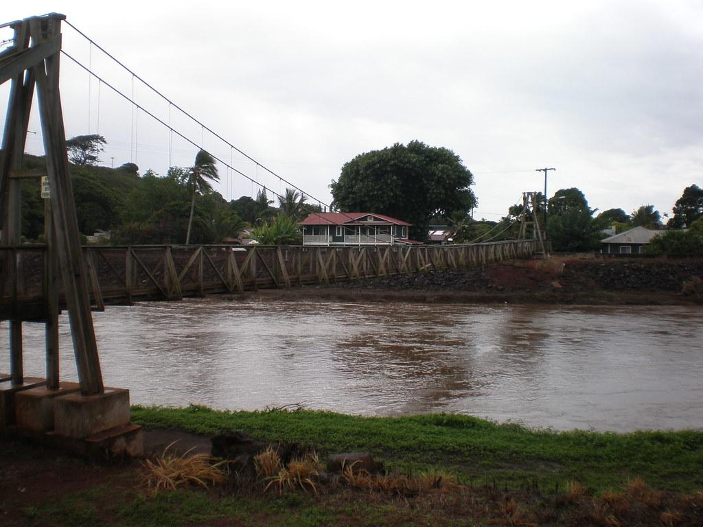 Hanapepe Swinging Bridge Looking Toward Town Hanapepe Swi