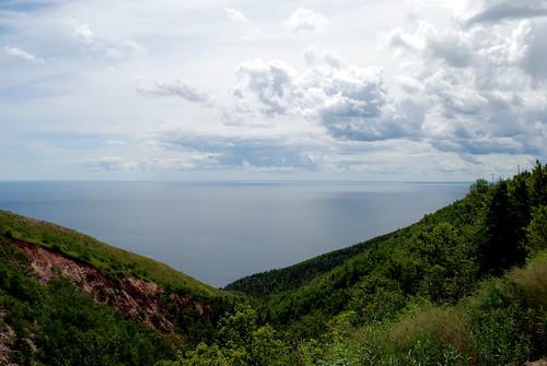 ocean sky mountain landscape novascotia capebreton cloudscape cabottrail d80