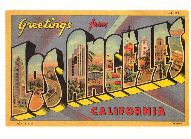Route 66 Los Angeles Postcard