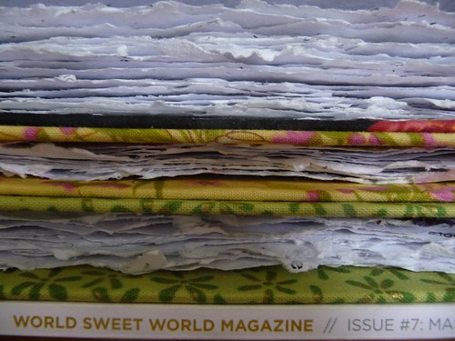 Issue 7-Fabric covered, recycled paper, hand-stitched notebooks