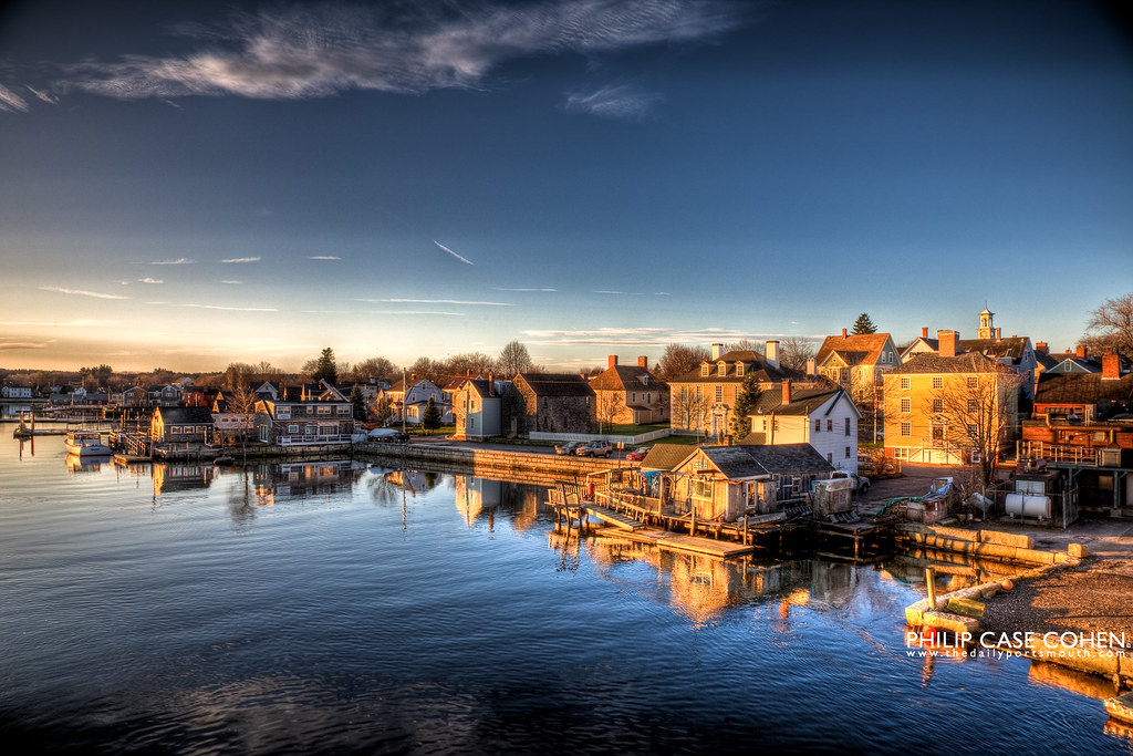 Sunrise in Portsmouth by Philip Case Cohen
