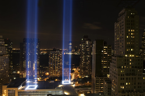 Towers of Light Tribute, Sept. 11, 2008 anniversary | by Dan Nguyen @ New York City