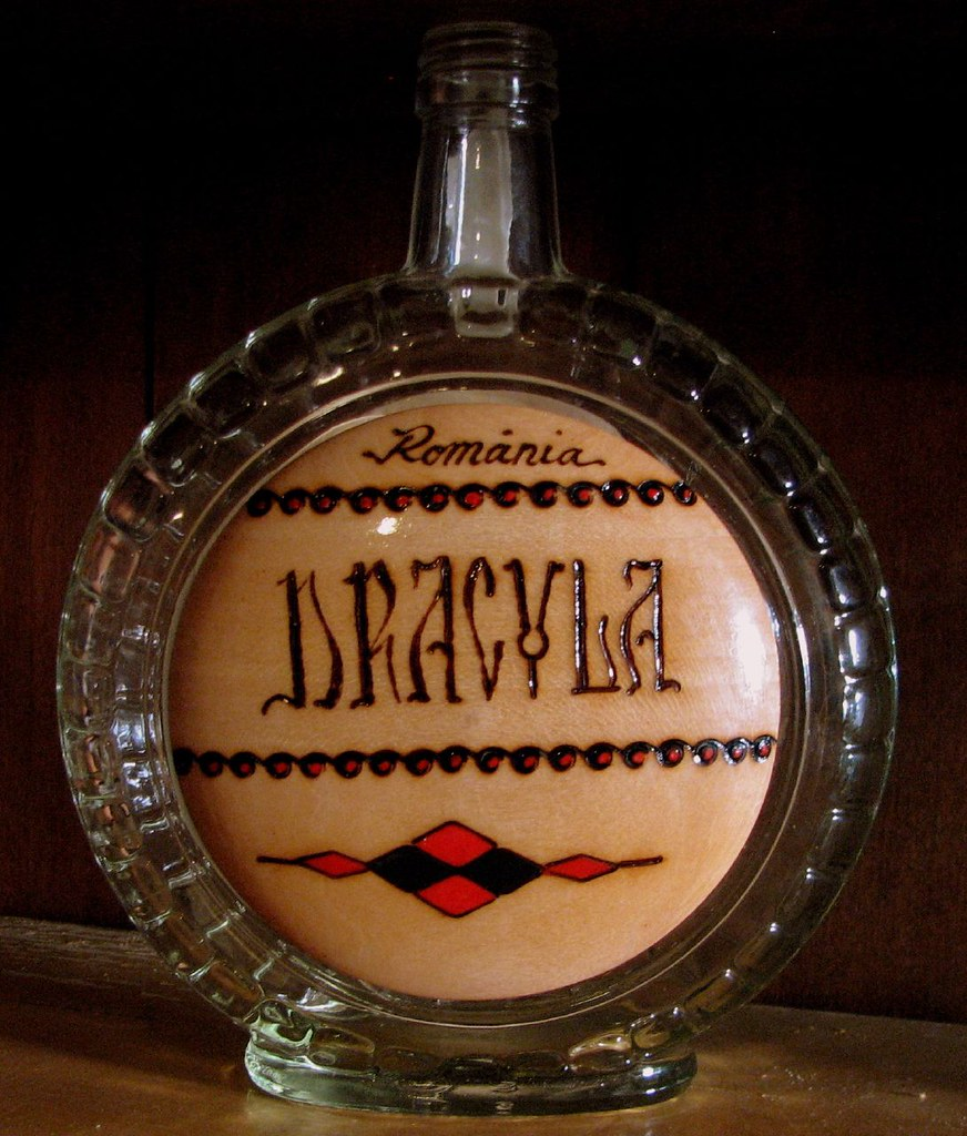tuica bottle from romania