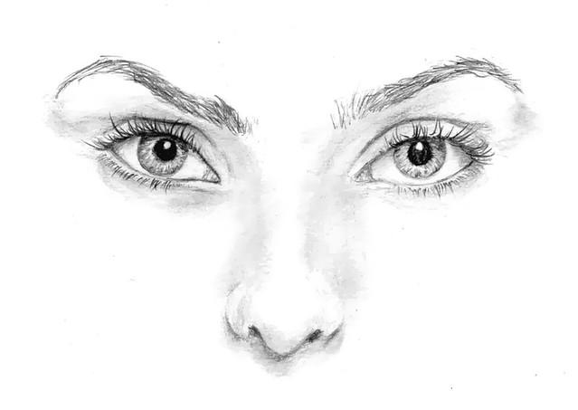 Rostos Desenhos: Desenho De Observação - Rosto