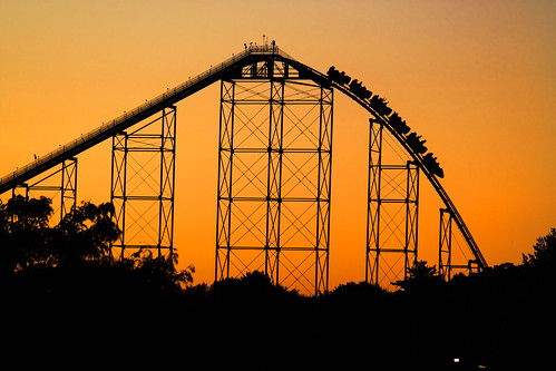 sunset vacation canon eos rebel ride pennsylvania hills pa amusementpark rollercoaster dslr coaster themepark allentown lehighvalley dorneypark attraction 5photosaday garyburke steelforce klingon65 t1i canoneosrebelt1i
