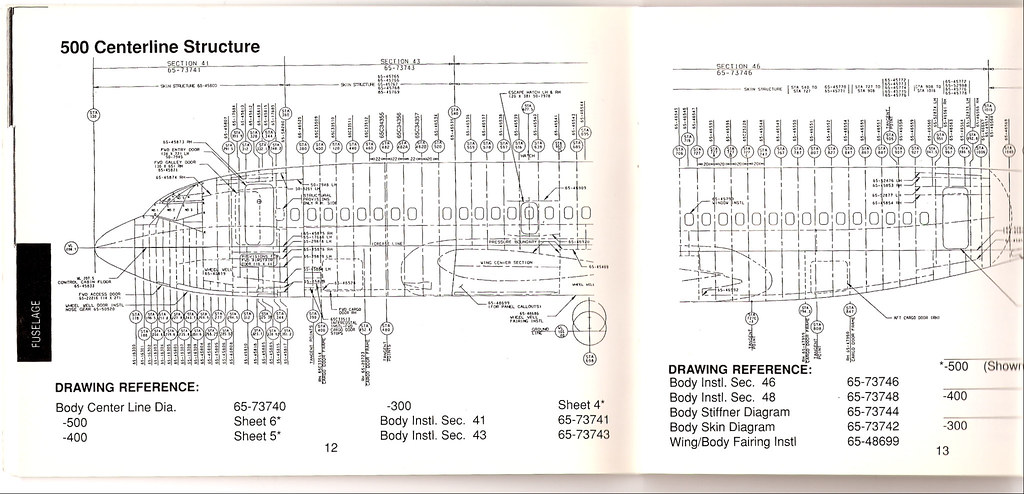 boeing 737-500 whole fuselage station diagram | by wbaiv